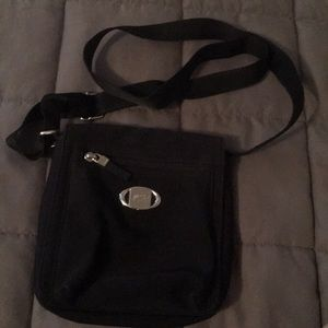 Black Esprit crossbody purse.